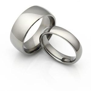 semi-domed-titanium-wedding-bands-set