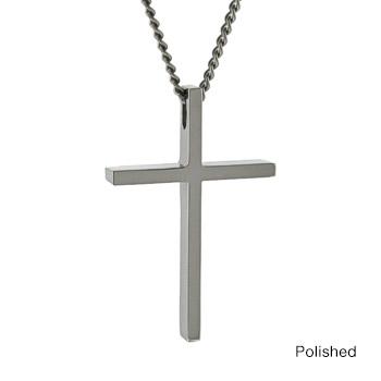 Thin design titanium cross pendant titaniumstyle thin design titanium cross pendant mozeypictures Choice Image