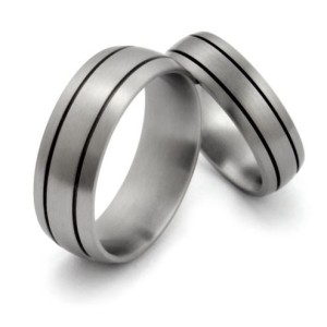 Brushed Finish Titamium Wedding Bands | Avant Garde Jewelry
