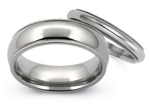 Polish Finish Titamium Wedding Bands | Avant Garde Jewelry