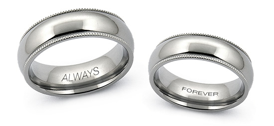 Did You Know we Can Engrave your Titanium or Tungsten Wedding Band? | Avant Garde Jewelry
