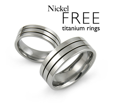 Nickel Allergy Free Titanium Rings Jewelry TitaniumStylecom