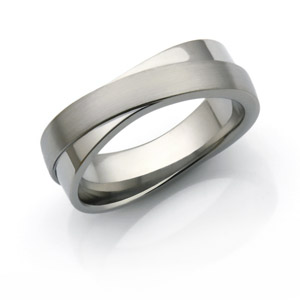 Titanium Infinity Ring. Perfect choice for a wedding band or anniversary ring.