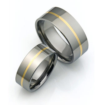 Mens Titanium Wedding Bands Strong And Stylish Titaniumstyle Com