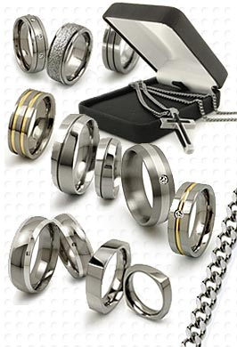titanium rings, necklaces, bracelets and chains by titaniumstyle.com