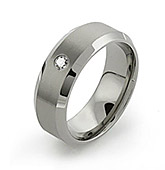 titanium rings with precious metal inlays