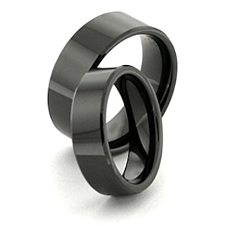 Black ceramic rings