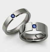 Tension Set Titanium Rings