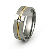 gold inlaid diamond band