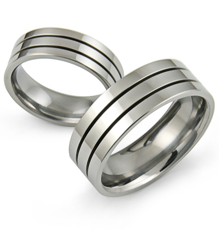 mens wedding bands hadcrafted in titanium