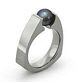 tension titanium rings black pearl
