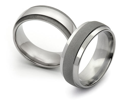Sandblasted Finish Titamium Wedding Bands | Avant Garde Jewelry