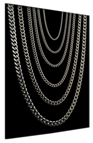 Curb Titanium Chain Necklaces