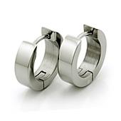 earrings made of titanium, polished finish