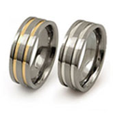 titanium rings resesed inlays