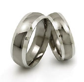 titanium wedding bands with white gold sides