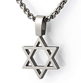 titanium star-of-david pendant - magen david.