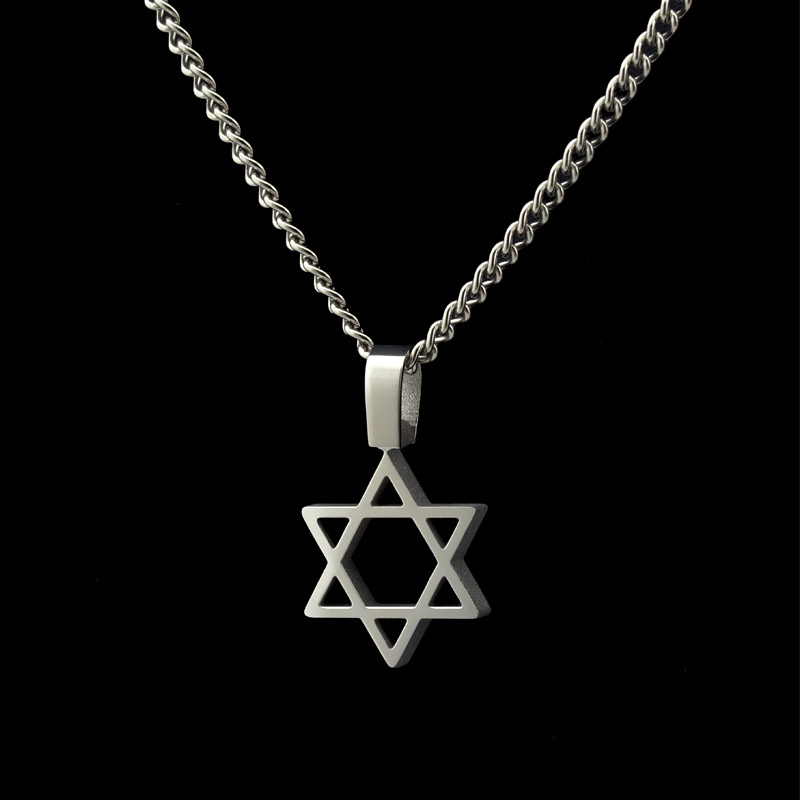 magen david cut from solid titanium