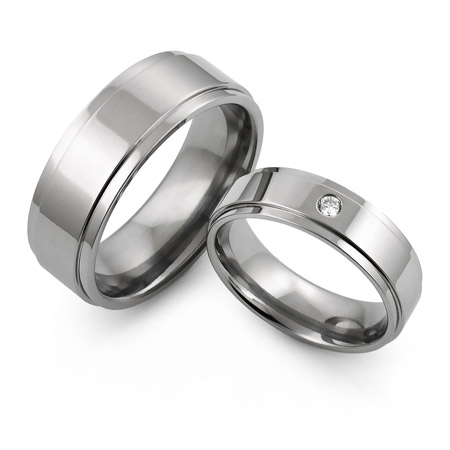 Aircraft grade titanium rings set