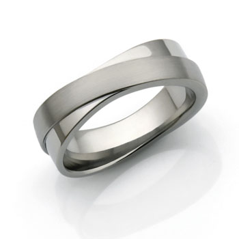 infinity ring designed in titanium