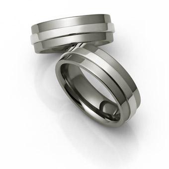 Titanium Piston Ring And Platinum Wedding Bands