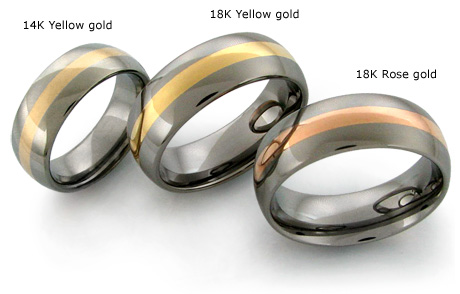 Get the Best of Both Worlds with Inlaid Titanium Rings | Avant Garde Jewelry